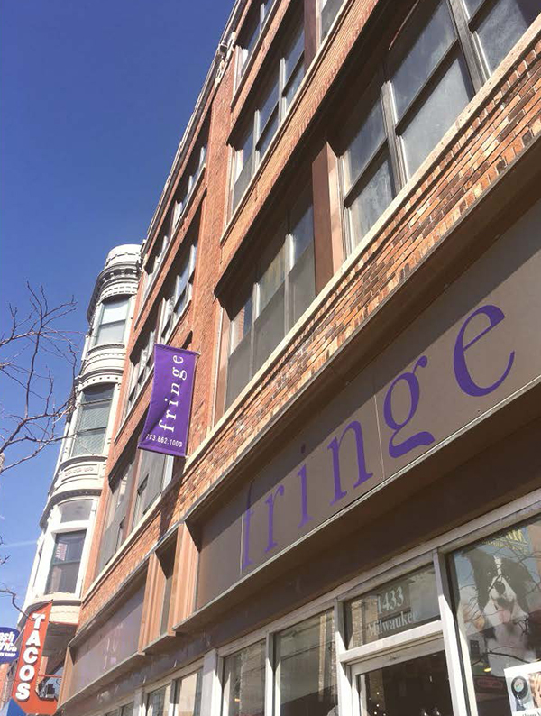 Exterior of Fringe / A Salon