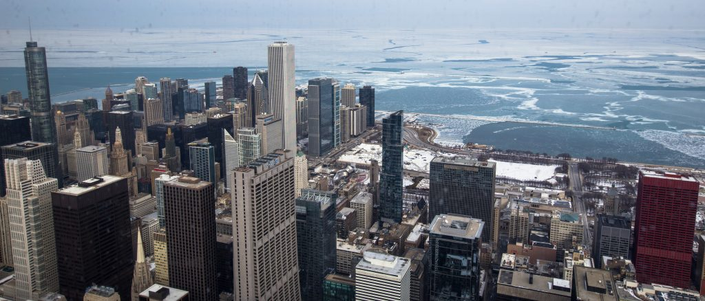 Winter view from a Chicago skyscraper